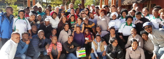 Isidingo cast members, crew and resort staff after completing the 2-day shoot at the Christiana All Seasons Resort