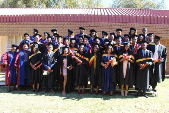 Taung Agricultural College stuff with the class of 2017